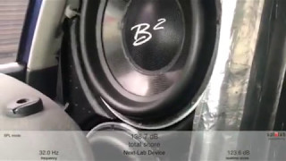 B2 Subwoofer SPL measure on Spl-Lab Wireless Bass Meter onscreen score!