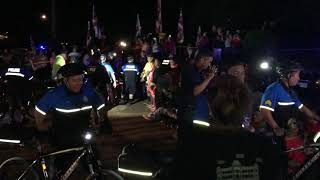 [RAW] Honolulu police arrive at Kalaeloa protest site