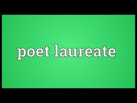 Poet laureate Meaning