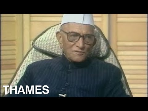 Morarji Desai interview   Prime Minister of India   India  1977