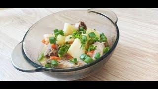 Тушеная картошка с мясом в мультиварке Простой рецепт
