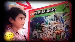 мНЕ ДЕД МОРОЗ ПОДАРИЛ LEGO Minecraft «ПЕЩЕРА В СНЕЖНОЙ ГОРЕ» ! ПОДАРОК ОТ ДЕДА МОРОЗА АНТБОКСИНК!