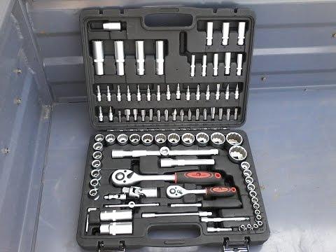 Обзор набор инструментов ключей Сервис ключ 94 предметов