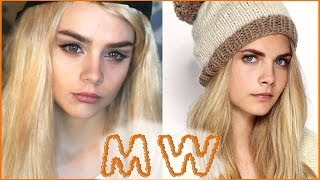 MW ♡ КАРА ДЕЛЕВИНЬ ♡ CARA DELEVINGNE ♡ makeup transformation interview макияж 2014 michelle