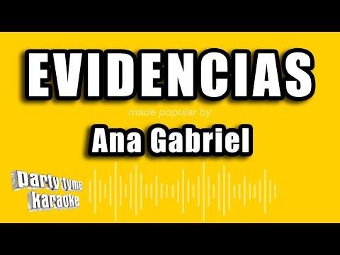 Ana Gabriel - Evidencias (Versión Karaoke)