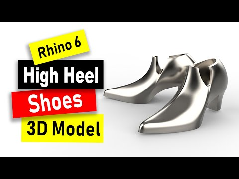 High Heel Shoes 3D Model tutorial in Rhino 6: Jewelry CAD Design Tutorial #91 thumbnail