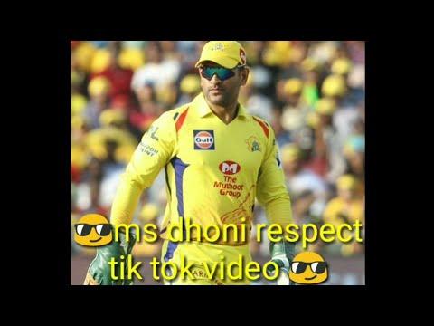 Mahendra Singh dhoni respect tik tok video.tik tok Ms dhoni video.