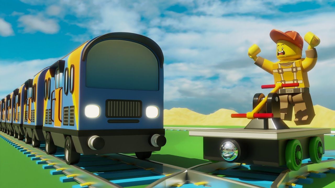 Lego train Fail - lego city cartoon