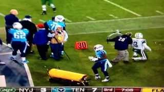 Monday night football fail. Jets vs Titans side line fail