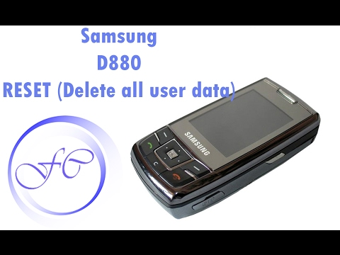 Samsung D880 Reset (Delete all user data) | Format