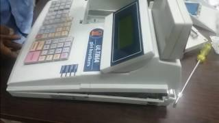 This video will show how to assemble ultima billing machine