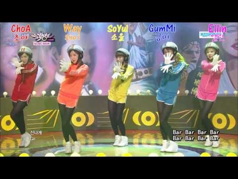 2013.08.16 Crayon Pop(크레용팝) - Bar Bar Bar(빠빠빠) 中字 認人版