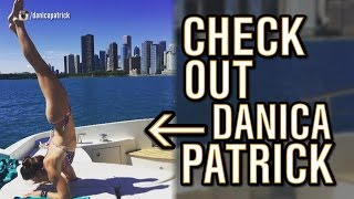 Danica Patrick's does Yoga on a Boat