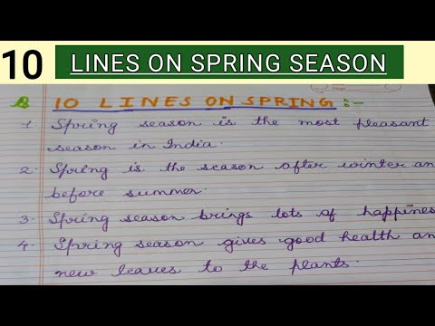 10 Lines on Spring Season in English for Children and Students