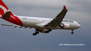 Video HD Familiar Metal - Qantas A330-202 - Landing At Melbourne Airport [VH-EBG] download MP3, 3GP, MP4, WEBM, AVI, FLV Juli 2018
