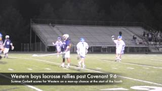 Western boys lacrosse rallies past Covenant 9-6