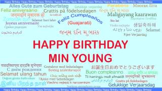 Min Young   Languages Idiomas - Happy Birthday