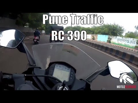 Riding KTM RC 390 in Pune traffic | Daily observation