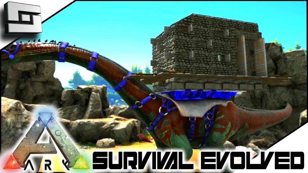 ARK: Survival Evolved - BRONTO PLATFORM SADDLE BASE! S3E23 ...