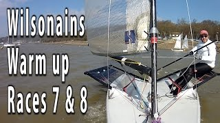 Blaze dinghy sailing. Today it's the Wilsonians winter warmup series 2016 races 7 and 8