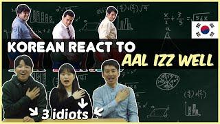 Korean React To All Izz Well │3 Idiots │Aamir Khan│R Madhavan│Sharman Joshi