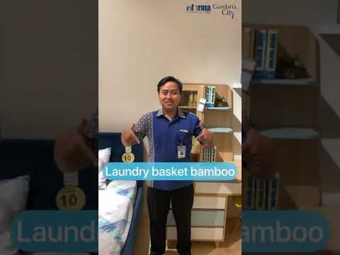 Laundry Basket Round Bamboo Natural By Informa Youtube
