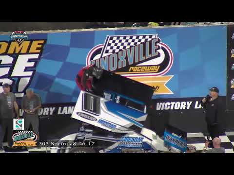 Knoxville Raceway 305 Highlights - August 26, 2017