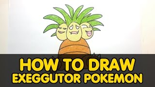 How to draw Exeggutor Pokemon - All for kids channel