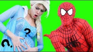 Spiderman and Elsa have a Baby!