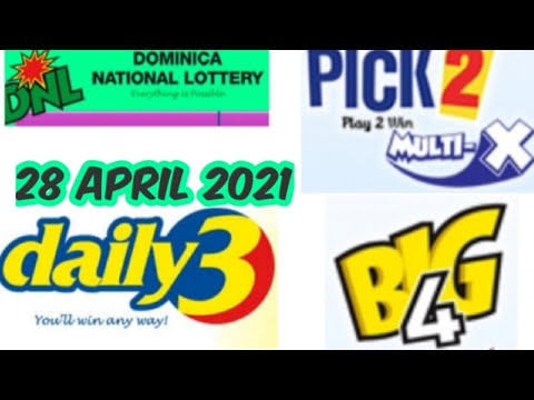 Dominica National Lottery Pick 2/Daily 3/Big 4 Best Number for ( 28 Apr. 2021 ) just try