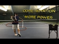 Effortless Power from Core Rotation Timing in Tennis