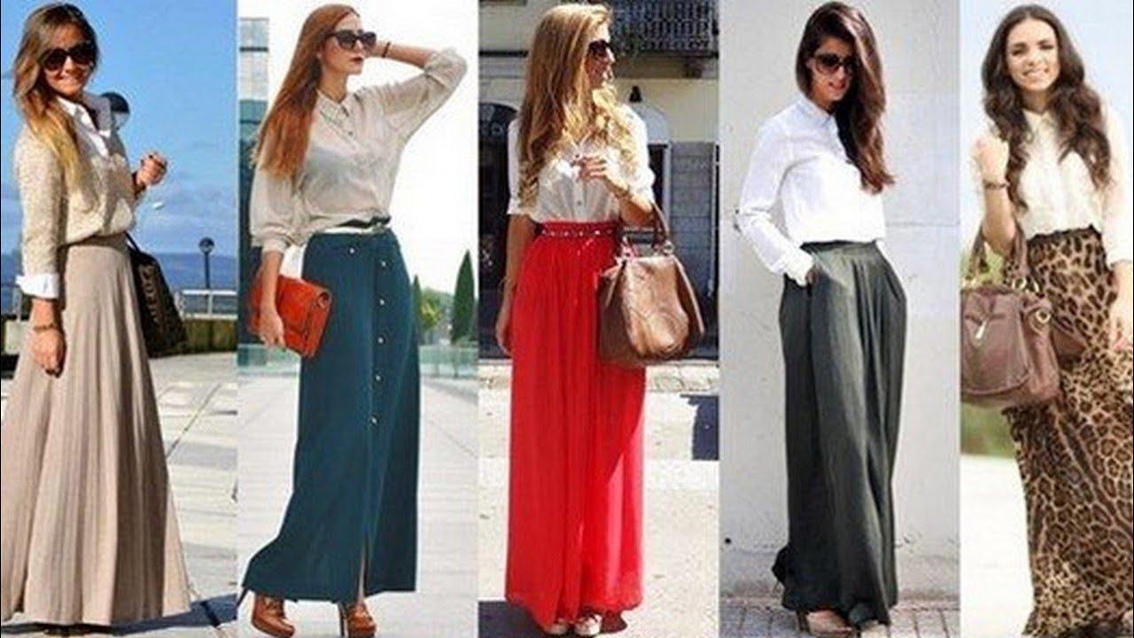 Длинная юбка с чем носить для невысоких