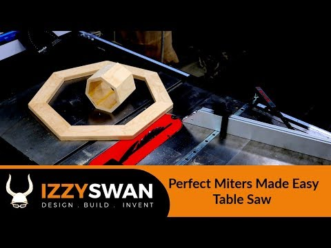 How To Make Perfect Miters with a Table Saw and other tools