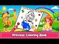 Princess Coloring Book for Kids & Girls 🎨