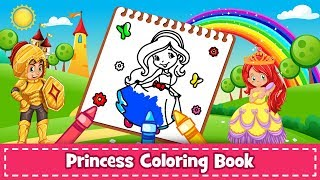 Princess Coloring Book for Kids & Girls 🎨: Android App (Promotional video)