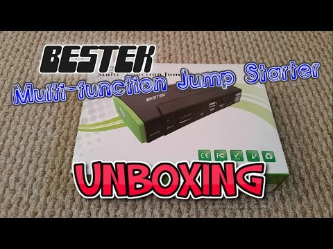 BESTEK Multi-function Car Jump Starter LED Light Unboxing
