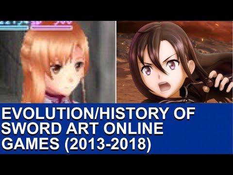 Evolution/History Of Sword Art Online Games (2013-2018)
