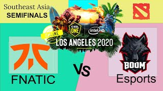 WHAT A GAME!!! FNATIC vs BOOM ESPORTS - ESL One Los Angeles ONLINE DOTA2 SEA Semifinals
