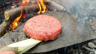 Can you cook a Burger on a hot Rock?