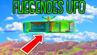 UNSICHTBARE SKYBASE GEBAUT! | (UFO TRICK) | Fortnite Battle Royale