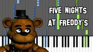 Five Nights At Freddy's Song on Piano (Original by The Living Tombstone)