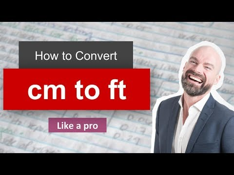 Wow Convert Centimeter To Foot Cm To Ft