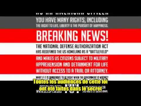 NDAA - La Loi de l'administration, Obama instaurant le fascisme aux USA
