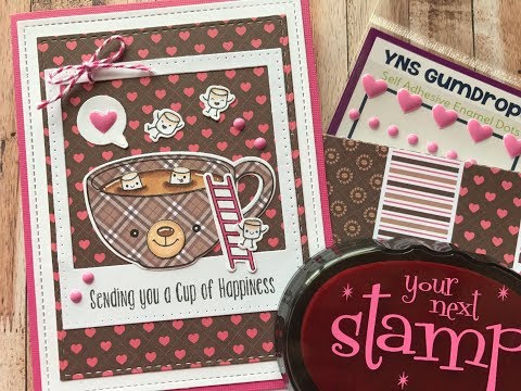 How To Make A Valentines Day Card with Paper Piecing | Your Next Stamp | Stamp Create Repeat