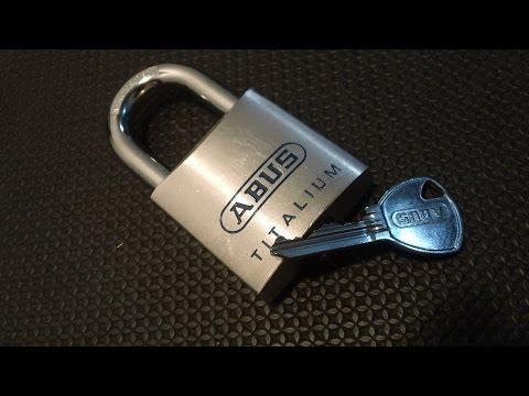 Взлом отмычками ABUS Titalium 80TI 50  Lockpicking Abus Titalium 80TI 50 ()