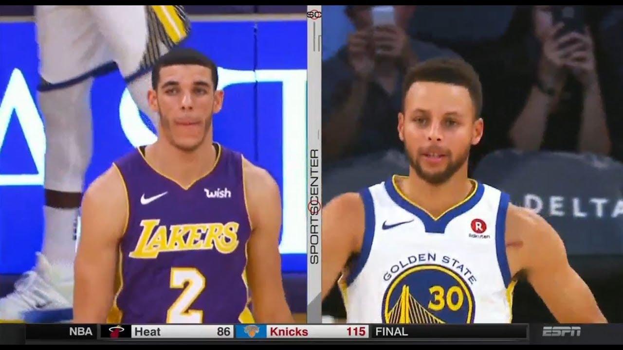 351a4d75206c Stephen Curry vs Lonzo Ball