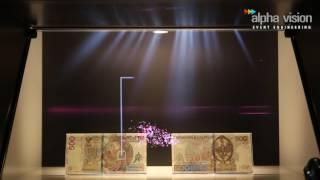 Prezentacja holograficzna nowego banknotu o nominale 500 PLN