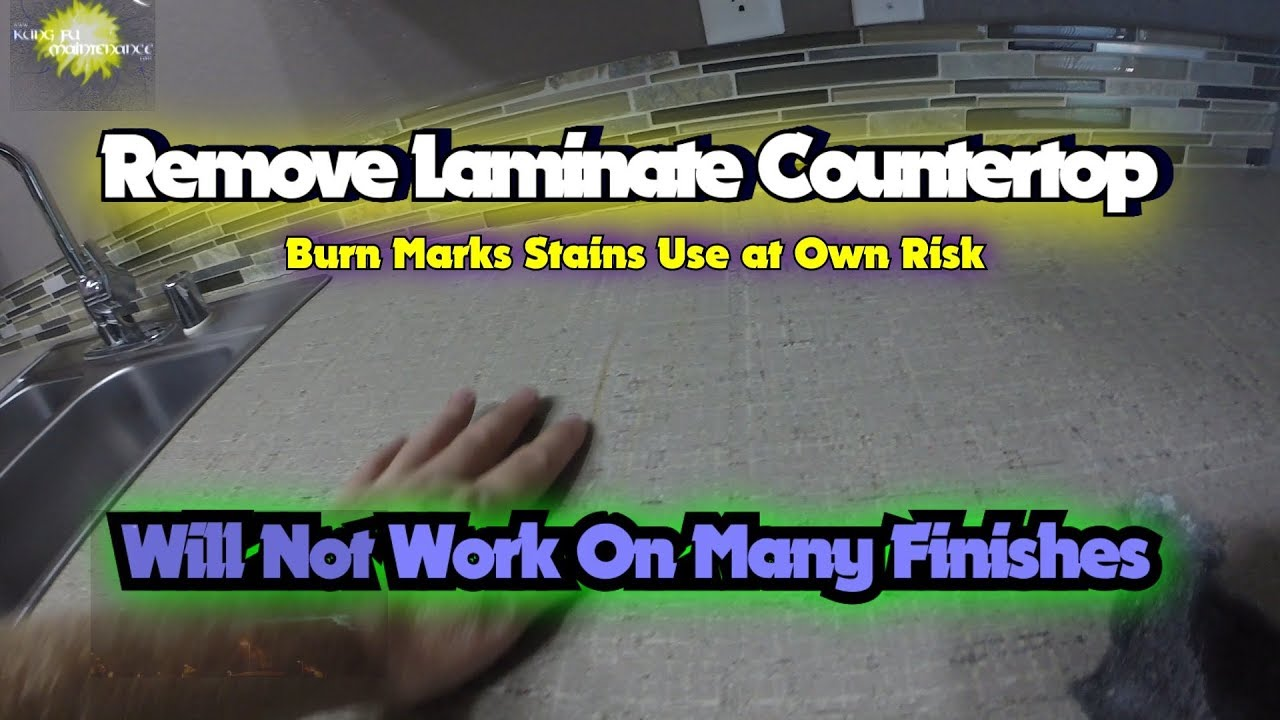 Remove Laminate Countertop Burn Marks Use At Own Risk Will Not Work On Many Finishes