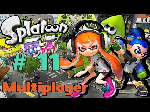 Let's Play Splatoon [Multiplayer] - #11 | Tower Of Orange, Blue, Pink, Green, Purple And Yellow