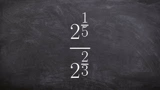 Learn how to diטide two exponents with fractional powers